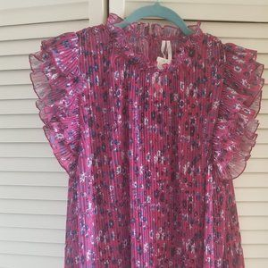 Anthropologie Pink Top